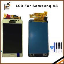 LCD screen touch digitizer for Samsung A3 2015 Galaxy A3000 display assembly home button replacement 4.5 inch black white gold