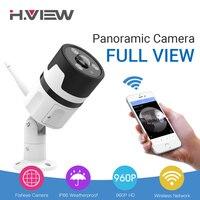 H VIEW 1080P Panoramic Cameras Outdoor 180 CCTV Camera 1080P IP Camera Wifi Camara IPS Fisheye