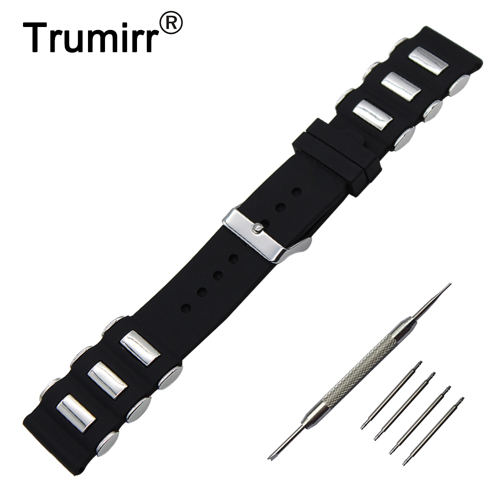 21mm 22mm 23mm 24mm 26mm Silicone Rubber Watch Band for Armani Watchband Stainless Steel Pin Buckle Strap Wrist Belt Bracelet 20mm 22mm silicone rubber watchband for tag heuer carrera watch band curved end strap steel buckle belt wrist bracelet black