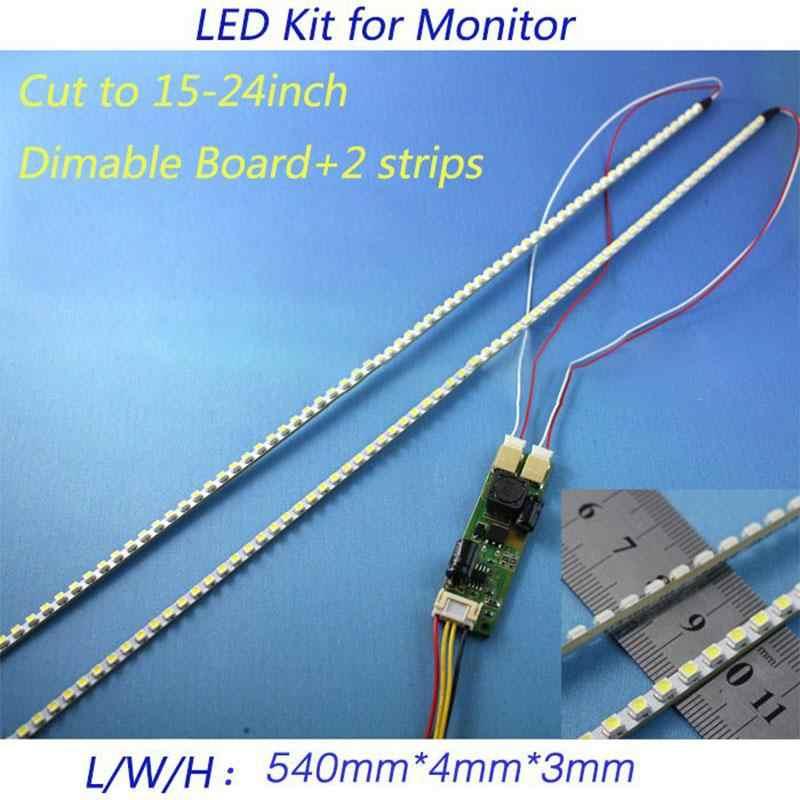 EastVita Универсальный светодиодный Подсветка лампы обновления Комплект для ЖК-дисплей монитор 2 светодиодный полоски Поддержка до 24 ''540 мм r60
