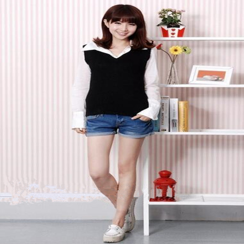 2018 New Arrival Cosplay High Quality Daily Solid Color Knitting Cotton Vest Sweater For Unisex In Stock ZQ0006