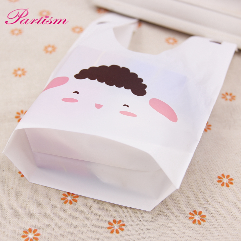 50PCS/Lot Cute Rabbit Ear Cookie&Candy Bags Self Adhesive Plastic ...