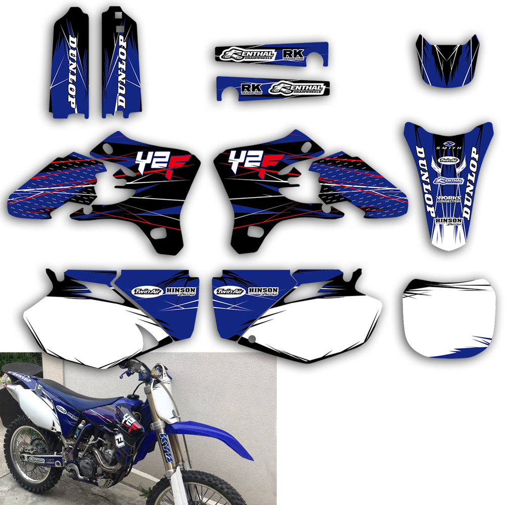 Team Graphic Background Decals Stickers Kit For Yamaha YZ YZF 250F 450F 250 450 YZ250F YZ450F