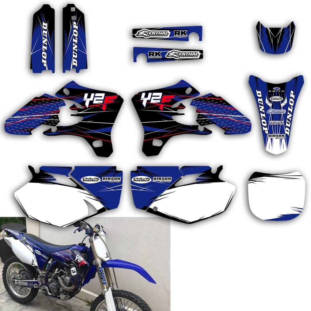 L'équipe Graphique Fond Autocollants Autocollants Kit Pour Yamaha YZ YZF 250F 450F 250 450 YZ250F YZ450F YZF250 YZF450 2003 2004 2005