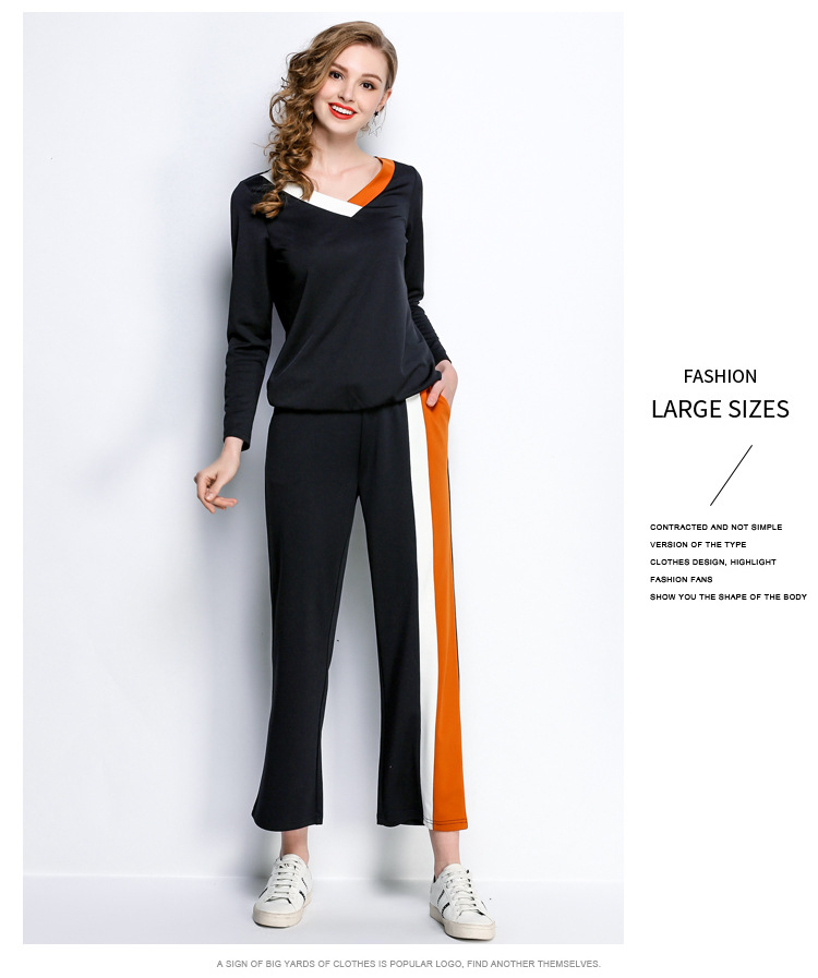 Tuta Primavera Manica Pz 2 5xl Donne Autumnswearshirt Sporting E Lunghi 1 2018 L Completa Suit Sportwear Set Pantaloni Swearshirt w6H0EHq