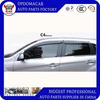 High quality 4 Piece Injection molding trim vent shade rain sun wind deflector window visor for Chevrolet C2 C3 XR C4L C5