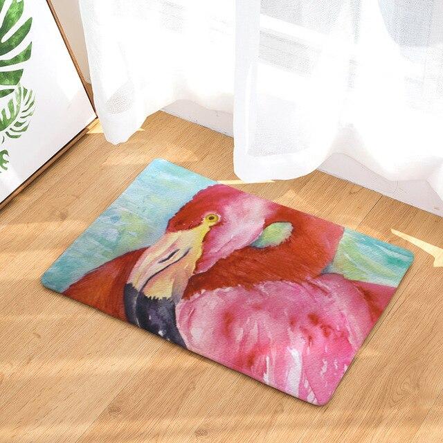 Tappetino da bagno Pink Flamingo Stampato Tappeto Bagno Tappetino Assorbente Tappeti Igienici Pavimento Della Cucina Tappeto A Casa Decorazione Porta Mat 50x80 cm