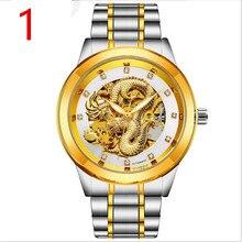 Новые модные мужские часы универсальное Нержавеющее в сдержанном стиле Повседневное класса люкс Бизнес Wristwatch.69