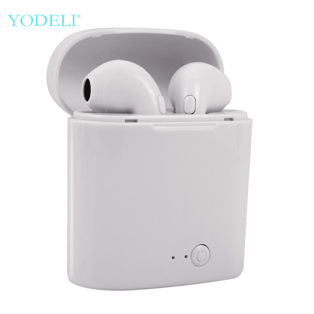 i7s Tws Bluetooth Earphones Mini Wireless Earbuds Sport Handsfree Earphone Cordless Headset with Charging Box for xiaomi Phone dock connector to usb cable