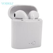 I7s Tws słuchawki Bluetooth Mini bezprzewodowe słuchawki douszne Sport słuchawka zestawu głosnomówiącego bezprzewodowy zestaw słuchawkowy z okno ładowania dla xiaomi telefon tanie tanio YODELI Ucho Brak Dynamiczny 20-20000Hz Dla Telefonu komórkowego Do Gier Wideo Słuchawki HiFi Wspólna Słuchawkowe 97±3dB
