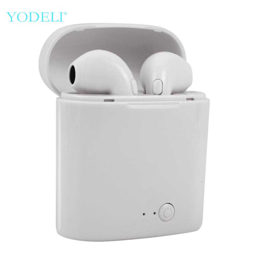 i7s Tws Bluetooth Earphones Mini Wireless Earbuds Sport Handsfree Earphone Cordless Headset with Charging Box for xiaomi Phone