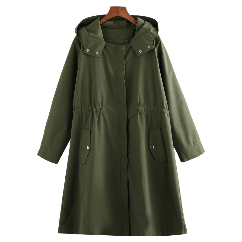 Autumn Winter Plus Size 10xl 9xl 8xl Hooded   Trench   Female Casual Windbreaker Long High Quality Women's   Trench   Coats