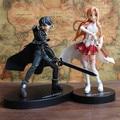 Boa PVC figura de ação SAO espada de arte em linha Asuna Yuuki Kirito Anime modelo de brinquedo colecionáveis presente frete grátis