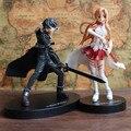 New Good PVC Sword Art Online Asuna Action Figure SAO Yuuki Kirito Anime Model Toy Birthday Gift Collectibles Free Shipping