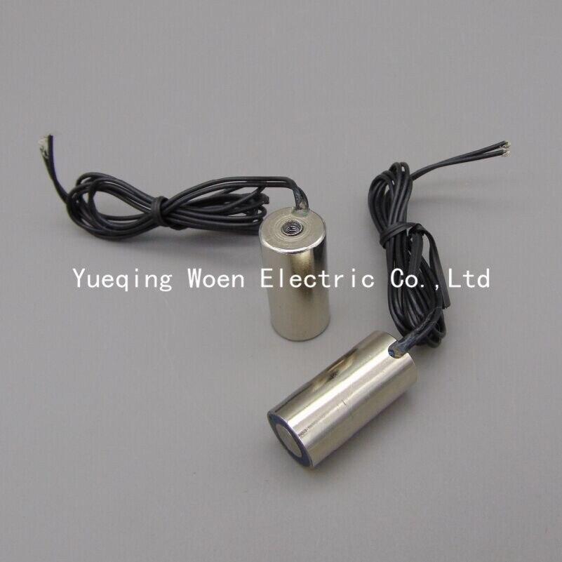 Electric Lifting Magnet 13mm OD 12VDC Miniature Holding Electromagnet Lift 1kg Solenoid P13/30