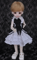 doll accessories bjd clothes1/6 Bjd doll sd doll skirt series of black and white double bow dress skirt other size can be custom