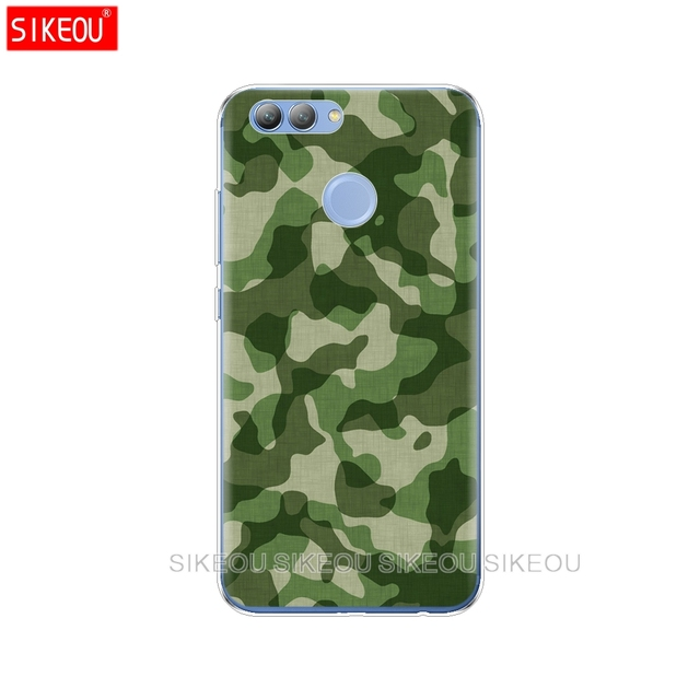 Silicone Phone Cover Case For Huawei Y3 Y6 Y5 2 II  2017 Nova 3 3e 3i 2s 2 LITE Plus Case Coqa Cool Military Camouflage