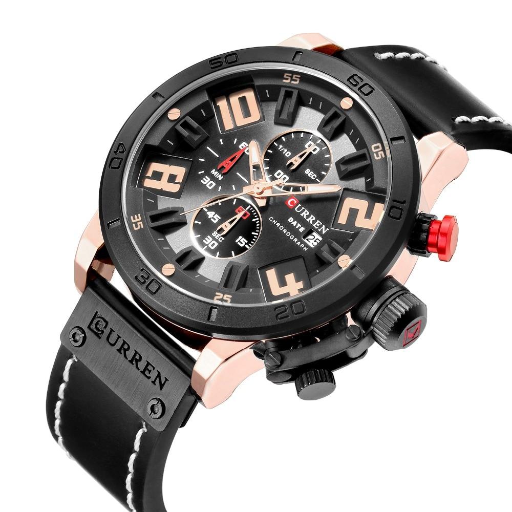 Curren 2018 8312 Watches Men Chronograph Sport Leather Strap Military Quartz Curren Watches Men Army men watch N9 curren m8113