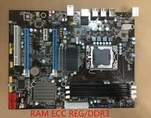 Новый оригинальный материнская плата X58 LGA1366 DDR3 ECC REG 24 ГБ ATX плата для X5570 X5650 W5590 X5670 L5520 CPU Бесплатная доставка