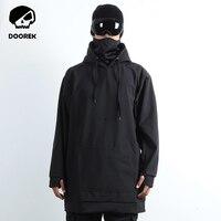 Professional Men Women Winter Ski Jacket Warm Waterproof Breathable Skiing Snowboard Clothing Hooded Jacket Black Color