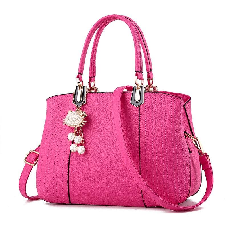 2018 Girls Bag Lovely cat Pendant Women Messenger Bag Ladies Beading  Shoulder Handbag PU Leather Hand Bag Lovely Crossbody Tote-in Shoulder Bags  from ... f9eee42e33