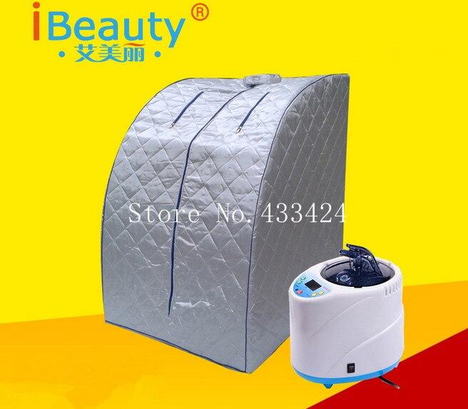 Sauna à vapeur télécommande TW-PS12 AC220v rentable cabine stress relief de santé conditionné combustion des graisses corps chambre portable