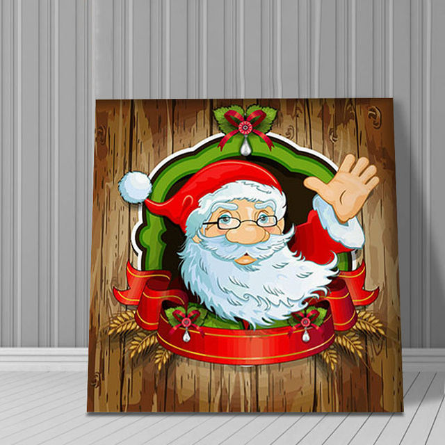 Cartoon Santa Claus Father Christmas decorations for home wall art ...