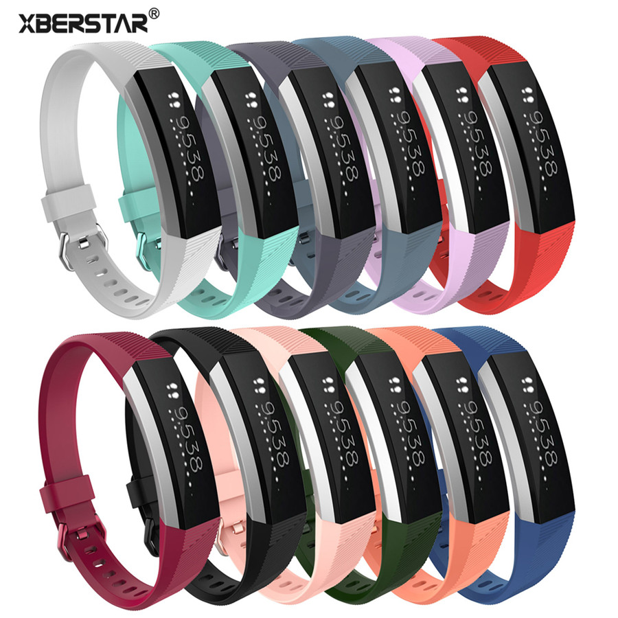 XBERSTAR correa de silicona Unisex pulsera para Fitbit Alta HR reemplazo de ritmo cardíaco Fitness pulsera inteligente