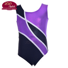 Girls Purple Training Ballet Leotards Clothing Stage Performance Competition Dance Skirt Children Dancewear Practice Dresses