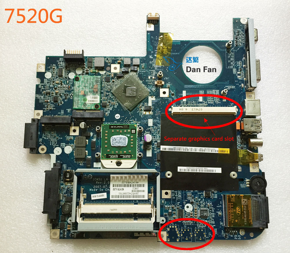 Mainboard 7520G ICW50 Aspire ACER Laptop for 100%Tested Fully-Work LA-3581P