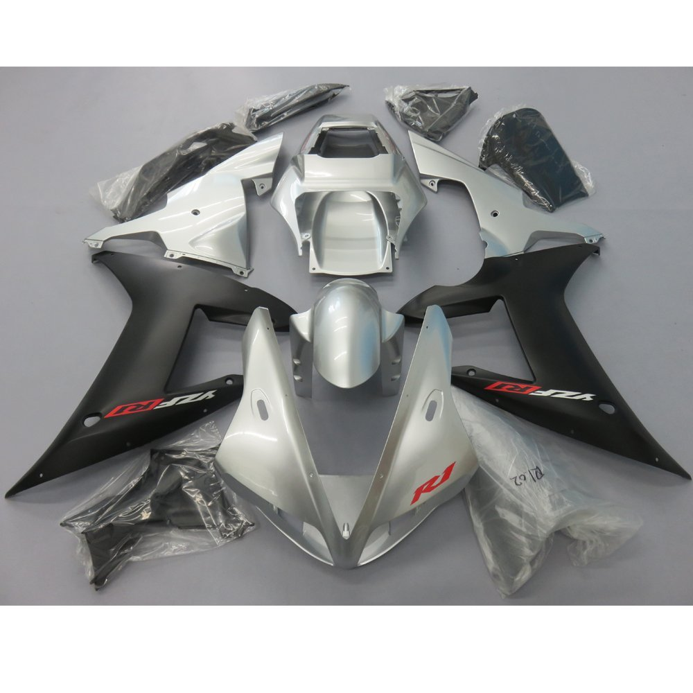 Motorcycle Injection Fairing Kit For Yamaha R1 YZF YZFR1 YZF1000 2002 2003 YZF-R1 02 03 Fairings kit Bodywork Matte Black Silver