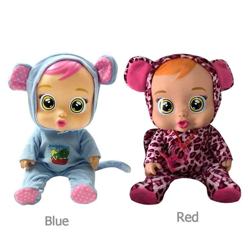 เด็กการศึกษา Pretend Play ตุ๊กตาสั้นตุ๊กตาไวนิลของเล่นเพลงเด็กน่ารักตุ๊กตาเด็กของขวัญวัน