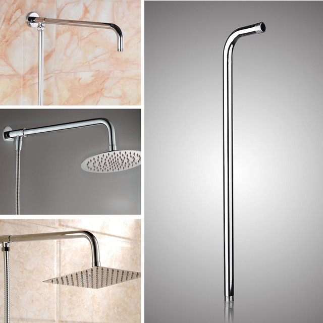 Genial 24inch Wall Mounted Stainless Steel Shower Extension Arm For Rainfall Shower  Head Shower Arms Bathroom Tools