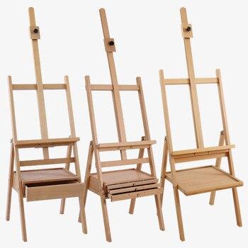 мольберт Caballete краски трехслойный ящик мольберт масло подставка для картин Chevalet En Bois деревянный мольберт стенд художественные
