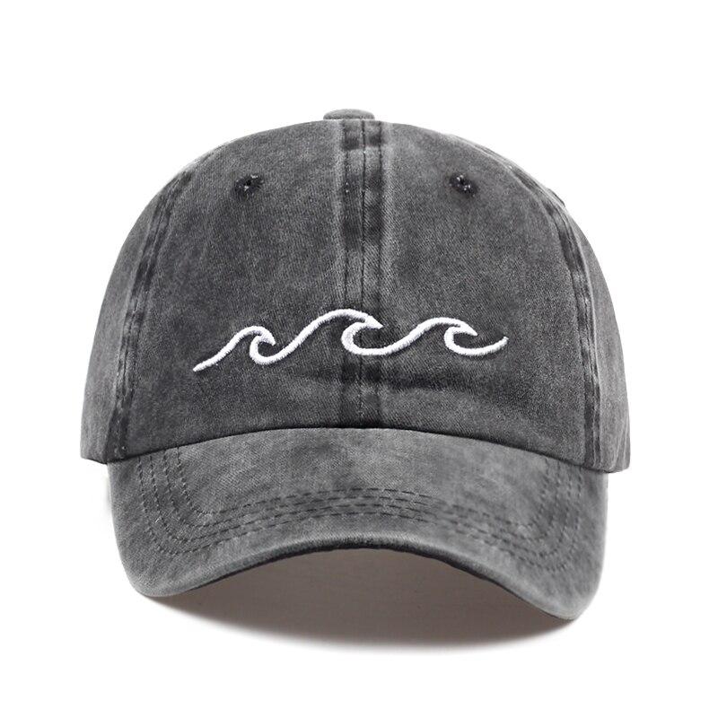 2017 venda quente do mar onda bordado unisex boné de beisebol algodão ajustável moda boné de beisebol feminino masculino ao ar livre casual bonés