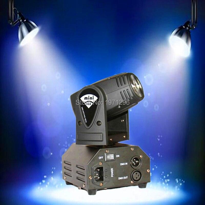 ФОТО 6pcs/lot  10W LED Stage DJ Lighting Moving Head DMX 512 Light Beam For Party Light High Quality Disco Effect Light