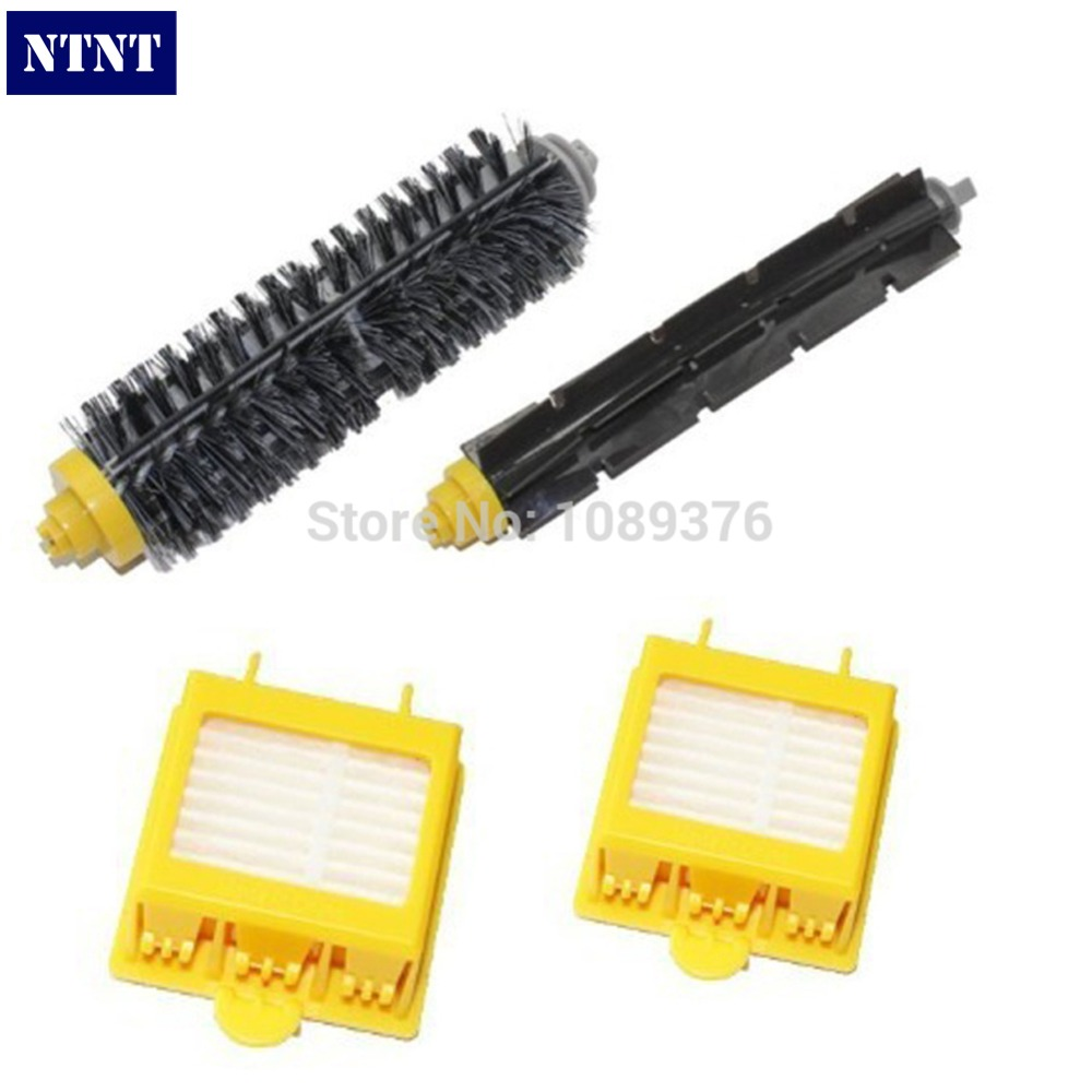 NTNT Replacement Brush For iRobot Roomba 700 760 770 780 Bristle Brush and Flexible Beater Brush 2 Piece HEPA Filter bristle flexible beater brush side brush hepa filter replacement kit for irobot roomba 700 770 780 750 760 761 790 vacuum parts