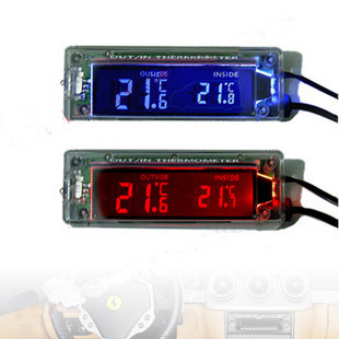 1pc Digital LCD Transparent Car Thermometer In and Out  Backlight