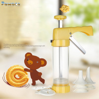 Baking Pastry Tool Cookie Silicon Mold Press Gun 16 Flower Mold 6 Pastry Tips Biscuit Cookie