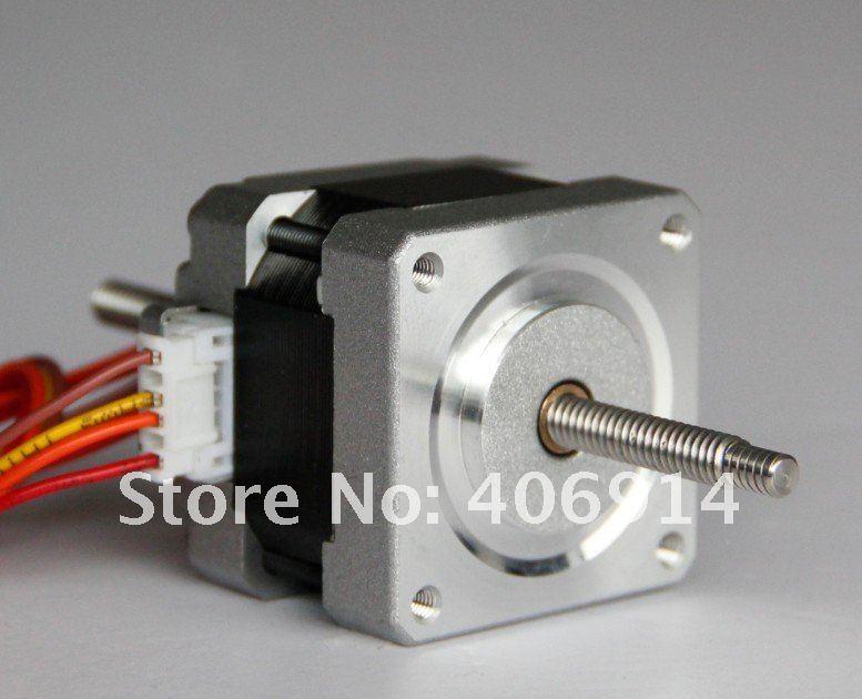 4 LEAD Nema16 linear Motor 30oz in ,12V, 0.4A,34mm,0.01mm/step