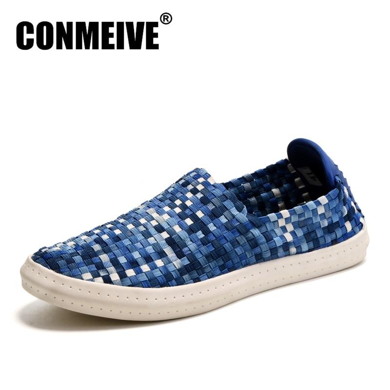 Promotionssko Mænd Mode Superstar Flat Gummi Casual Loafers Zapatillas Hombre Tenis Masculinos Glødende Pustende Slip-on