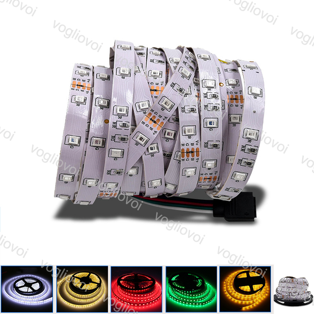 Vogliovoi Led Strip Light SMD 2835 DC12V 300LED Round 2 wire Dimmable Flexible Ribbon Waterproof  LED Lights DHL