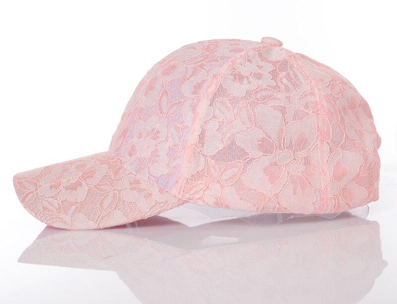 Women's Baseball Caps Lace Sun Hats Breathable Mesh Hat Gorras Summer Cap For Women Snapback Casquette 1