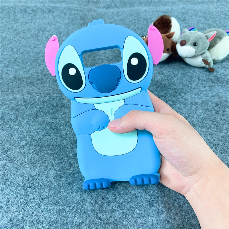 Cartoon Minnie Stitch Unicorn Cat Case Soft Silicone Cover for Samsung Galaxy A7 2018 A6 A8 J3 J4 J5 J6 J7 J8 2017 Cases A750 in Fitted Cases from Cellphones Telecommunications