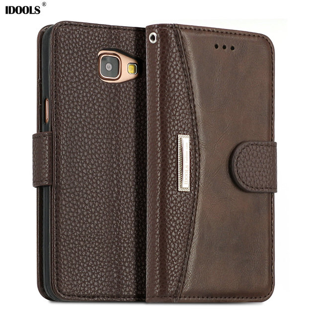 low priced cdf02 dd26f US $8.24 25% OFF|IDOOLS for Samsung Galaxy A5 2016 Case, Luxury Leather  Case for Samsung Galaxy A5 2016 A5100 A510 A510F Cover Style Phone Cases-in  ...