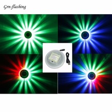 DC 5V USB RGB LED Wall Light Decoration Auto Rotating Colorful light Sound Control Holiday Disco party Dance Floor Bar DJ Lamp gigertop rgb 50cmx50cm led stage floor ktv bar led tempered glass dance floor colorful led light 10mm fiber glass wedding dance