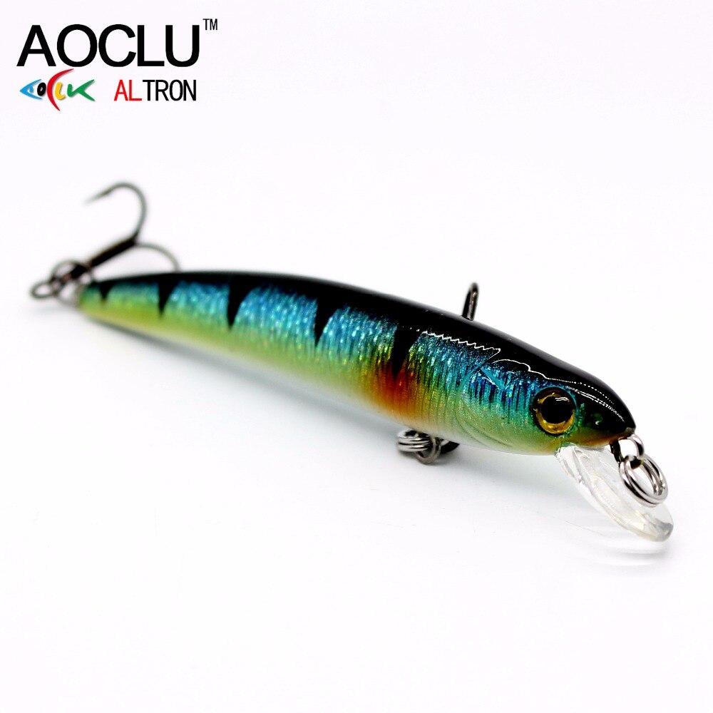 AOCLU VMC Hooks Fishing-Lure Hard-Bait Saltwater Tackle Crank Minnow Wobblers Bass 70mm
