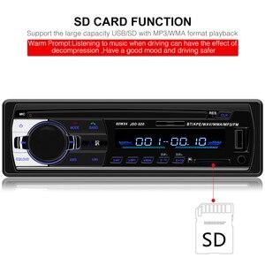 Image 4 - Car Radio Autoradio 1 Din Bluetooth SD MP3 Player Coche Radios Estereo Poste Para Auto Audio Stereo Carro Samochodowe Automotivo