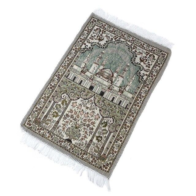 65X110 Cm Casa Pavimento Morbido Musulmano Stile Etnico Decorazione Soggiorno Tappeto di Spessore con La Nappa Culto Stuoie di Preghiera coperta Tappetini