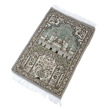 65X110 Cm strona główna miękka podłoga muzułmański styl etniczny dekoracja salon gruby dywan z pomponem maty kultu modlitwa koc dywan